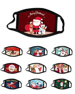 la cara máscara de navidad del diseñador antivaho máscara máscaras de algodón lavable de color de dibujos animados de moda mascarillas Máscaras del partido para el cabrito adulto