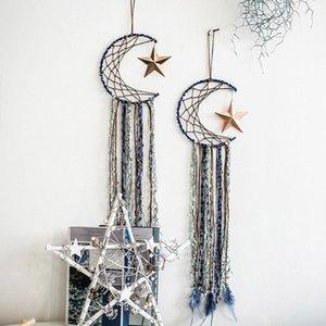 Oggetti decorativi Figurine Moon Metal Craft Hoops Dream Catcher Anelli per fai da te Dreamcatchers Greathers Macrame B0KB