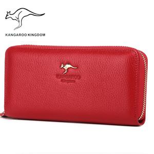 Kangaroo Kingdom Luxury Women Wallets Genuine Leather Pusre Brand Wallet Ladies Clutch 201006