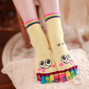 Kadın Çocuk çorapları pamuklu çorap çocuk sockspure pamuk sockscartoon socksfive ayak bölünmüş ayak dağıtma yüzü Ujwgh Uj sockssmiling