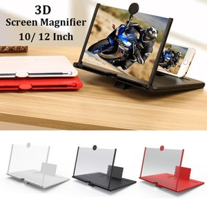 Wholesale 10 12Inch Portable Mobile Phone Screen Magnifier 3D Video Eyes Protection Folding Screen Display Amplifier Expander