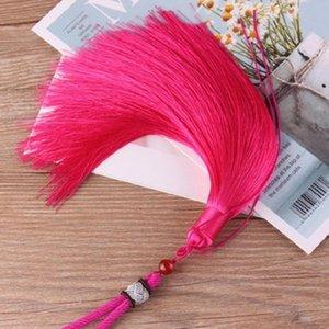 1 unids alta calidad cuerda de cuerda borlas bricolaje llavero gorras correas joyería haciendo encantos colgantes artesanía accesorios artesanía borlas H wmtyzv