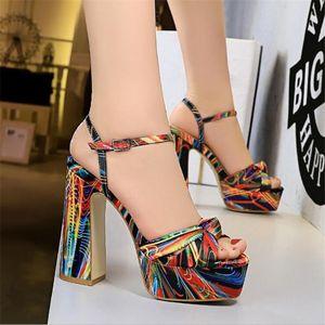 2020 Women 12cm High Heels Gladiator Sandals Wedding Bridal 4cm Platform Heels Sandles Fetish Elegant Stripper Colorful Shoes