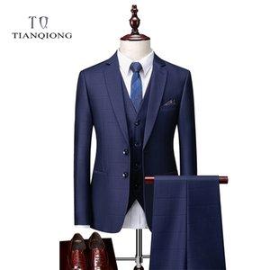 Tian Qiong The Preencher Fatos Homens New Style Designer Suits Slim Fit Ternos de Casamento para Homens 3 Peças Terno (Casaco + Calças + Colete) 201123