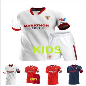 20 21 Sevilla J.Navas Home Blanc Blanc Bleu Red I.Rakitique Mens Soccer Jerseys de Jong Nolito Rakitic Séville Chirin de football de Fútbol 2021