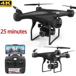 Drone 4k 1080p 25 mins rc hélicoptère drones avec caméra HD WiFi FPV PROFISSION SANS PROFESSION PROFISSION RC BATTERIE DE BATTERIE UAV QUADCOPTER