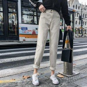 Dewadbow Droit Jeans Loose Pantalons Femmes 2021 Nouveau printemps E-Girl Vintage Denim Streetwear