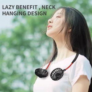 3 styles wireless mini fan Hang neck type USB charging fan Lazy people hanging neck gift Electric fan Wear it when you exercise