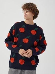 Sweater vestuário Casal de Puff Bordado Natal Sweater Homens Round Men Neck