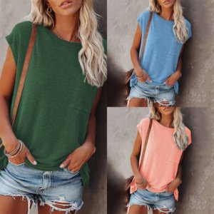 039 T-Shirt quality Fashion sleeveless training Men's Top fitness Pure color Casual T-shirt Women's? t shirt For Men cotton Sports fitness