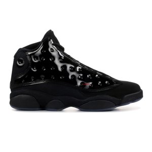 13 cap and gown new 13s cheap shoes black Patent Leather sneakers mens trainer with box