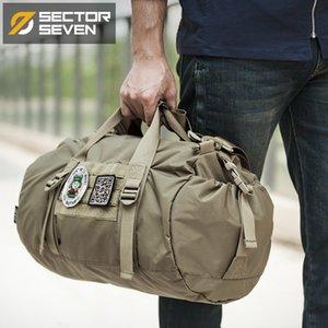 Sector Seven Mode Hommes Casual Packable Porte-documents Outdoor Sacs à bandoulière voyage Arrondi Commute Sac à main