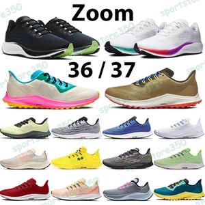 Zoom koşu ayakkabıları beyaz çok renkli açık mavi pegasus erkekler kadınlar spor eğitmenleri 36 iz pembe patlama yarışçı mavi oreo siyah beyaz 37 spor ayakkabı