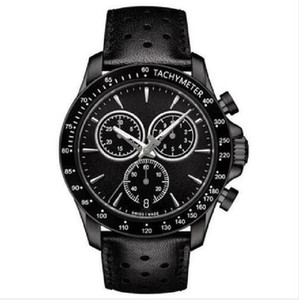 NEW MENS T106.417.36.051.00 V8 T-SPORT BLACK LEATHER CHRONOGRAPH WATCH