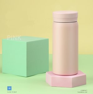 Customizable DIY Thermos Stainless Steel Capacity Small Portable Mini Water Fashion Trend Handy Cup Light and Cute