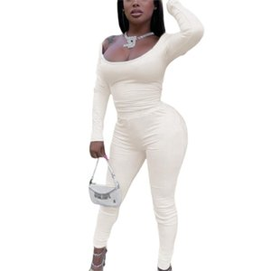 New Fashion Women Ladies Winter Casual Sexy Square Collar Long Sleeve Skinny Top + High Waist Trousers 2pc Sets Black White Gray