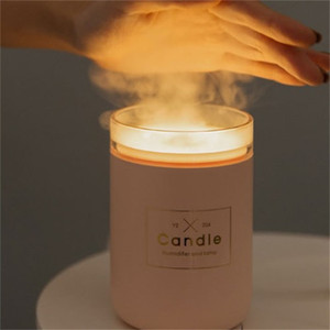 Ambiance de ménage Candle Essential Huile Essential Diffuseur Aroma Ultrasonic Air Purificateur Purificateur Humidificateur Mini Lampe Diffuseurs Neuf 280ml 34LD K2