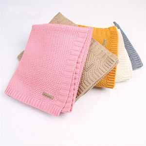 Baby Blanket Knitted Newborn Blankets Super Soft Stroller Wrap Infant Swaddle Kids Inbakeren Stuff For Monthly Toddler Bedding 201211