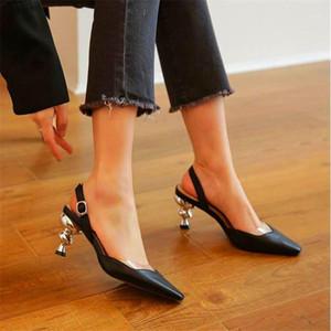 Sapatos Femininos de Estilo Elegante Estranhas Sandálias de Salto Alto com Salto Fino e Sapatos Alto1
