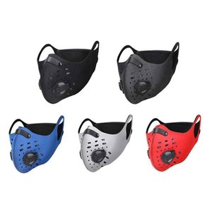 Face Motorcycle Masks Cycling Sport Mask PM2.5 Adjustable Mask Filter Training Activated Carbon Uhavm Washable Running Anti-pollution Swook