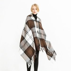 Mingjiebihuo New European and American folk style cape air conditioning shawl travel scarf woman gilrs Autumn And Winter fashion 201021
