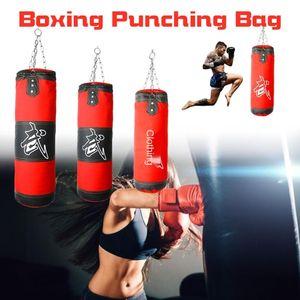 60cm-100cm vacuum boxing sandbag hanging foot sandbag boxing training karate punching chain hook shooter