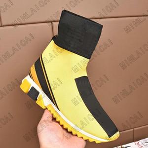 Sorrento الانزلاق على الأحذية إيطاليا إمرأة مصممي الفم الرصيف أحذية رياضية تمتد متماسكة جورب المدربين نغمات المطاط الصغرى الوحيد أحذية رجالي عارضة