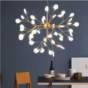 LED chandelier lights For Living Room Bedroom Home Modern Pendant Chandelier ceiling Fixture decorative firefly Free Shipping