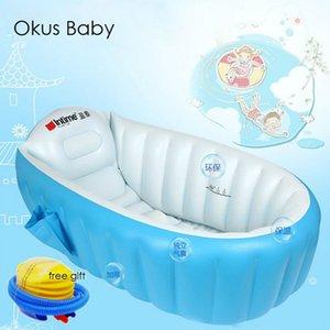 Portable bathtub inflatable bath tub Child tub Cushion Warm winner keep warm folding Portable bathtub With Air Pump Free Gift 201019