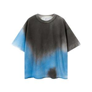 Черная футболка TILE-TIE-CRATE CONTRAST TERRY RAPPORE ROOPLE