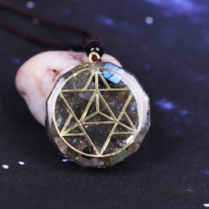 Orgonit Anhänger Orgon Aura Labradorite Amulett Wandler Energie Yoga Halskette Geschenk 200929