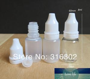100 x High Quality 8ml Clear PET Dropper bottle 8cc Plastic Dropper Bottle 8CC Semi Transparent Eye Drop Bottle