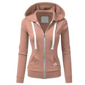 Gold Catalpa - Forme VOTRE BODY Mode Sportswear Fille Zipper à glissière à capuche Sweatshirt Sweat-shirt Present pour Girl LJ200808