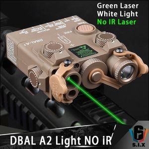 NO IR 레이저 버전 전술 DBAL A2 그린 레이저 화이트 라이트 스트로브 버전 무기 Dbal-A2 손전등 에어 소프트 레이저