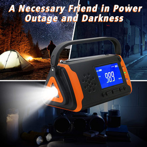 Guangzhou Juropin For AM FM NOAA Weather Portable Radio With Outdoor Solar Hand Crank Bright Flashlight