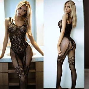 Игрушечные Bodysuits Эротическое Белье Open промежность Эластичность сетки тела чулки порно сексуальное нижнее белье костюмы