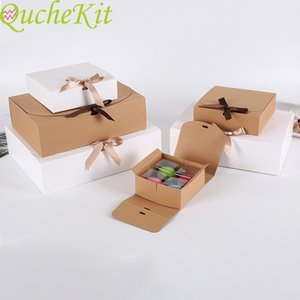 10 pieces of kraft carton gift packaging barbecue white Christmas cake decoration 2021 wedding gift box festival supplies