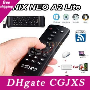 Minix Neo A2 Lite Fly Air Mouse 2 .4ghz Wireless Keyboard Six -Axis bateria built-in multi -Os Suporte para Smart Android TV Box Pc