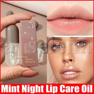 DEROL 민트 나이트 립 케어 플럼 퍼 콜라겐 Plumping Gloss Moisturizer Repair Lip Extreme Volume Lips Enhancer Makeup 5.5ml