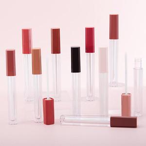 5 pcs 4 / 5ml plástico labelo labelo tube diy labelo contêiner garrafa de garrafa viagem vazio cosmético lipgloss tubes maquiagem organizador de maquiagem beleza