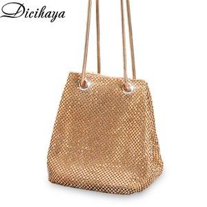 DICIHAY Women Small Shoulder Bags Lady Wedding Party Pouch Clutch Evening Bag Luxury Women Bucket Bag Handbags Diamond Bags