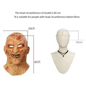 Partito Horror Cosplay adulti Freddy Krueger Costume spaventoso Maschera di Halloween di Natale Y200103