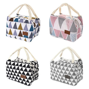 New Waterproof Portable Triangle Design Lunch Bag Thermal Insulated Bento Case Tote Cooler Dinner Storage Container Handbag