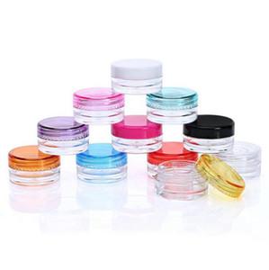 3G mini bouteille de crème en plastique vides huile cosmétique conteneur cosmétique rechargeable maquillage maquillage crème échantillon d'affichage de l'affichage Ahe2665