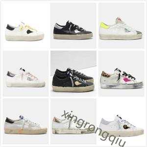 Altın Merhaba Yıldız Sneakers Tasarımcı Yıldız Kadın Adam Rahat Ayakkabılar Klasik Do-Eski Kirli Ayakkabı Kaz Çift Yükseklik Alt Eğitmenler En İyi Kalite