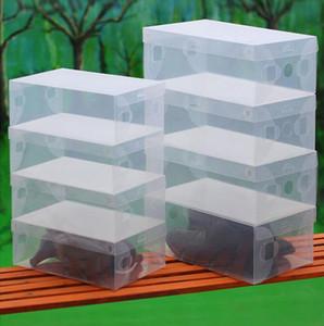 High Quality 10pcs lot Foldable Plastic Shoe Storage Case Boxes Stackable Organizer Shoe Holder basket Easy DIY 0404