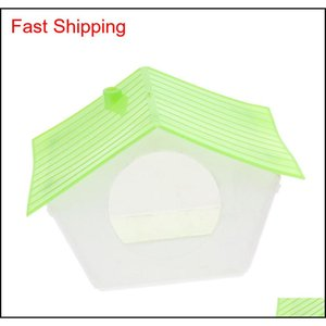 Plastic Bird Nest Cage House Hatching Breeding Cave In 2 Size For Parrot, Canary Birds (S) Lanbg