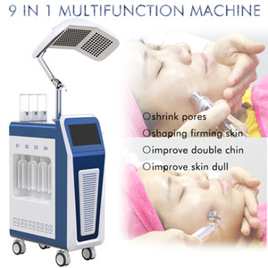 Hydrafacial Oxygen Jet Peel Spray Machine Hydro Dermabrasion 9 IN 1 Hydra Facial Machine PDT LED Light Therapy