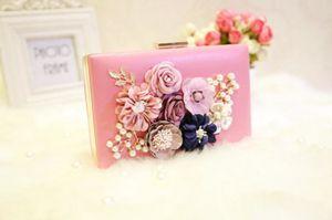2020 Pink Total Fashion Women Evening Bag Brand Party Banquet Glitter Bag For Ladies Wedding Clutches Handbag Shoulder Bag Chain