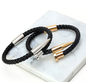 Mcllroy Bracelets Men Brackelts Bangles Pulseiras 6mm Weave Genuine Leather Nail Bracelet Charm Love Cuff Br wmtnlq bdedome